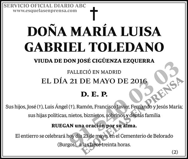 María Luisa Gabriel Toledano